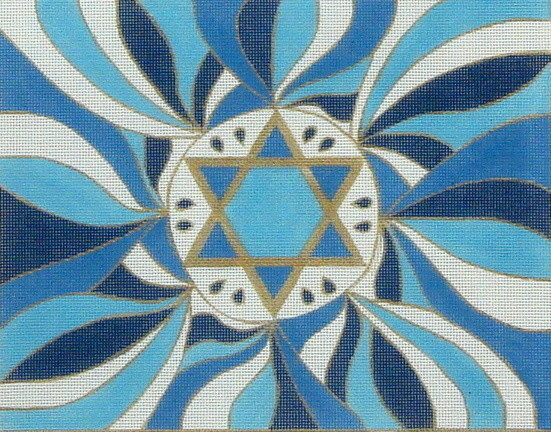 Star of David Tallis   (handpainted from Julia's Needework)