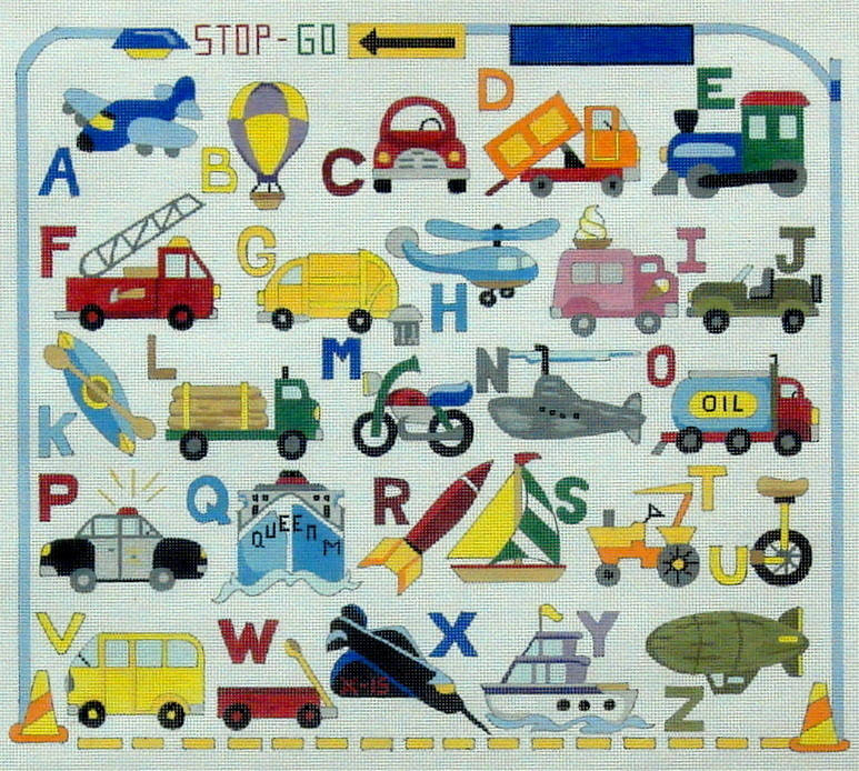 Transportation  (Handpainted by Alice Peterson Company)