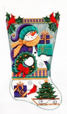 Purple Snowman    (hand painted from Rebecca Woods Designs)
