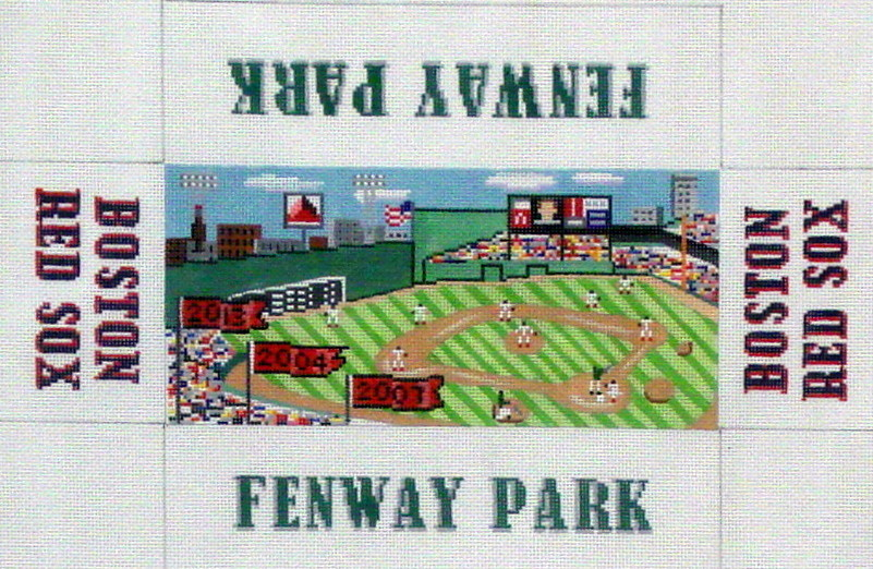 Fenway Park/Red Sox     (handpainted  from the Wellesley Needlepoint Collection)