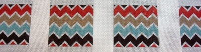 Chevron Coaster, set of 4      (Handpainted by Gayla Elliott)
