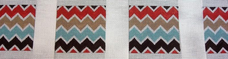Chevron Coaster, set of 4      (Handpainted by Gayla Elliott)