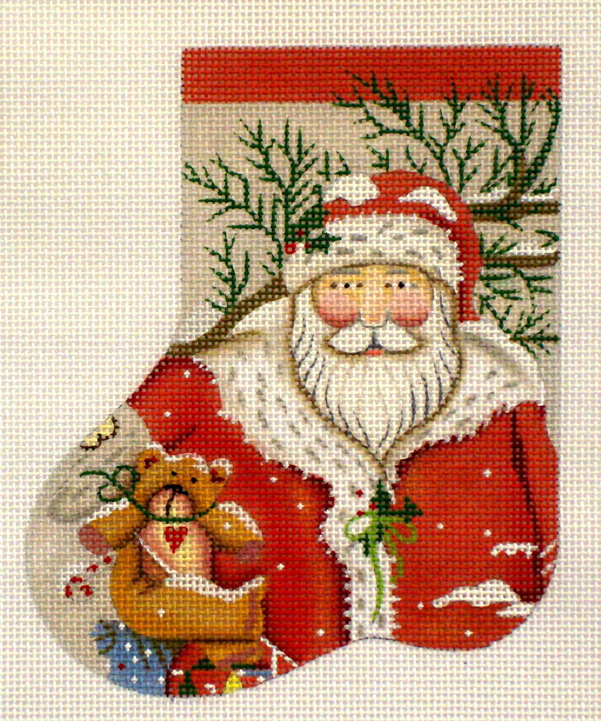 Snowy Santa mini soak    (hand painted from Melissa Shirley)