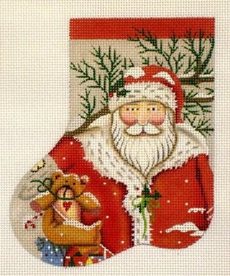 Snowy Santa mini soak    (hand painted from Melissa Shirley)