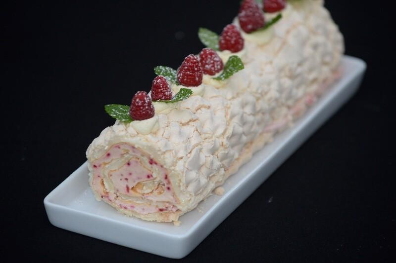 Raspberry Meringue Roulade