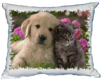 Polštářek Štěňátko a koťátko IV