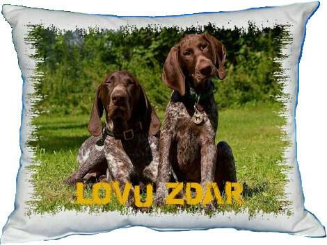 Polštářek Lovecký pes