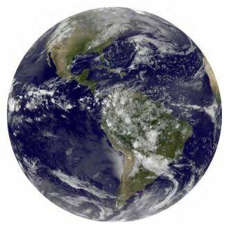 Kulatá samolepící fototapeta KOMAR DOTs D1-016 Earth