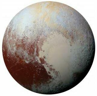 Kulatá samolepící fototapeta KOMAR DOTs D1-021 Pluto