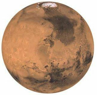 Kulatá samolepící fototapeta KOMAR DOTs D1-018 Mars
