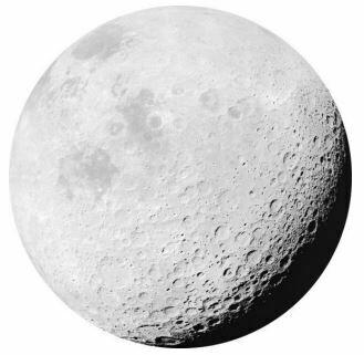 Kulatá samolepící fototapeta KOMAR DOTs D1-020 Luna