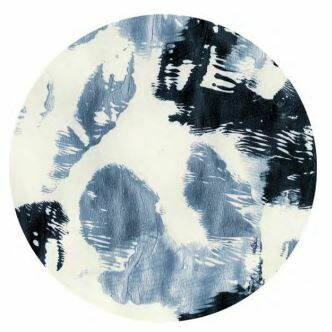 Kulatá samolepící fototapeta KOMAR DOTs D1-044 Arty Blue