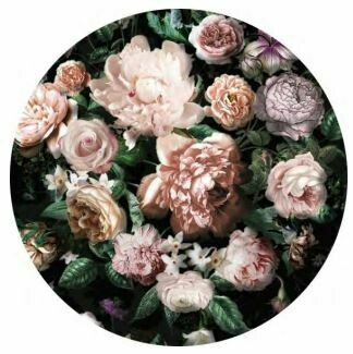 Kulatá samolepící fototapeta KOMAR DOTs D1-032 Flower Couture