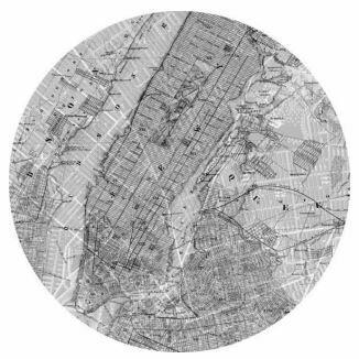 Kulatá samolepící fototapeta KOMAR DOTs D1-056 Map