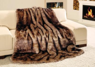 Luxusní deka 150x200 cm - imitace sobol