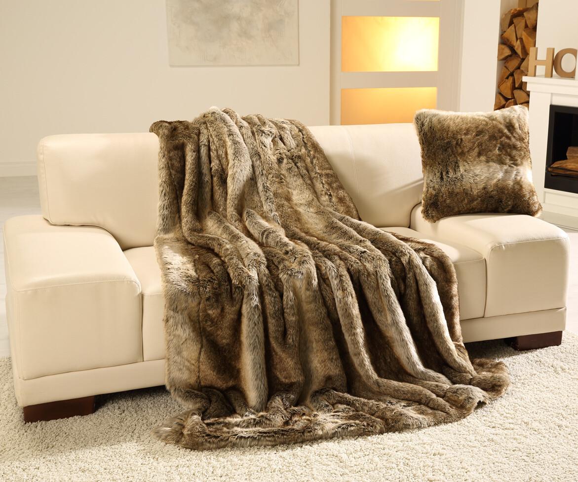Luxusní deka 150x200 cm - imitace medvěd hnědý