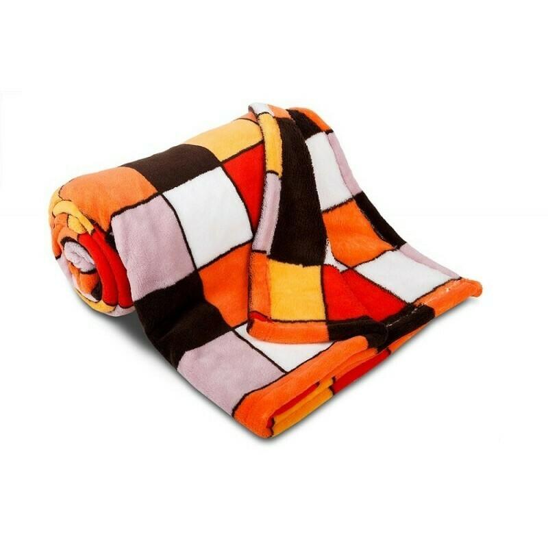 Deka Mozaika - oranžová mozaika