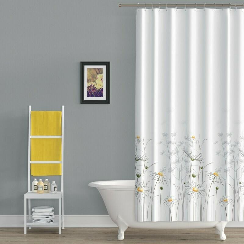 Koupelnový závěs 180x200cm - Kopretiny 8441