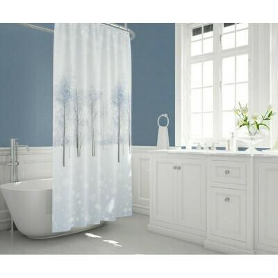 Koupelnový závěs 180x200cm - Zimní alej 8759