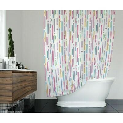 Koupelnový závěs 180x200cm - Barevný déšť 9385