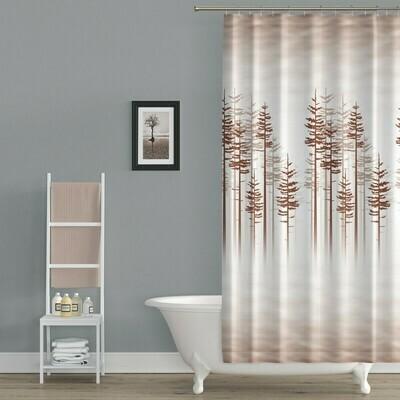 Koupelnový závěs 180x200cm - Les hnědý 3390