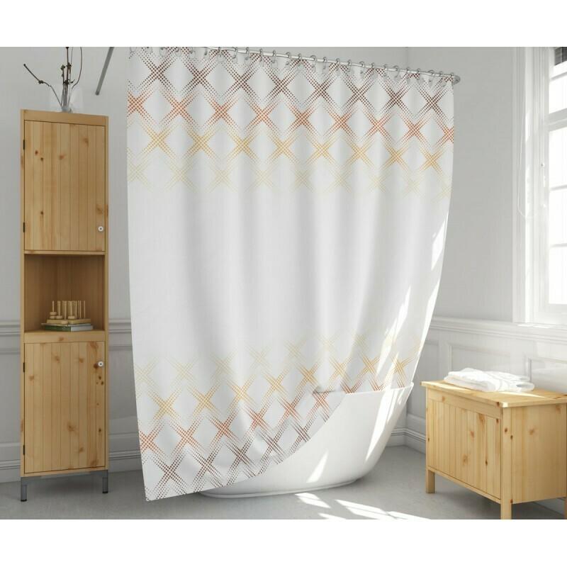 Koupelnový závěs 180x200cm - Modern béžová 4644