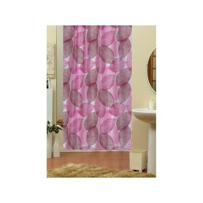 Koupelnový závěs 180x200cm - Růžové listy 3110
