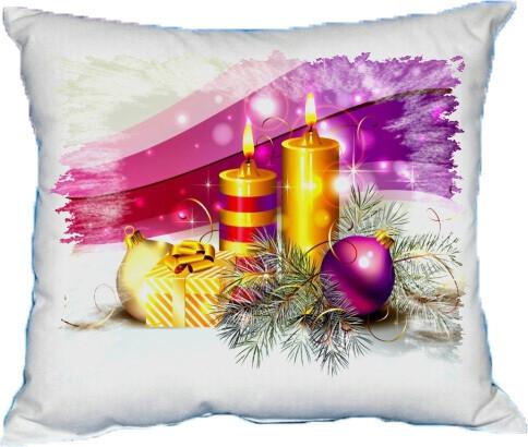 Polštářek vánoční svíčky