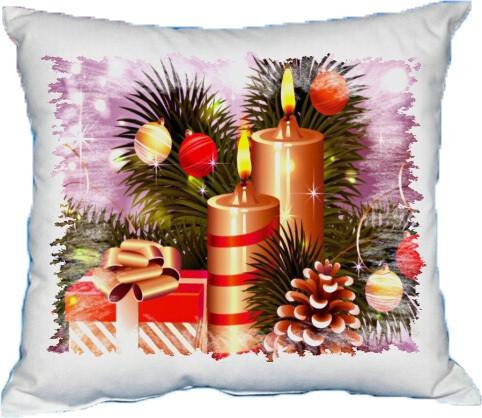 Polštářek vánoční svíčky II