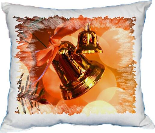Polštářek vánoční zvonečky