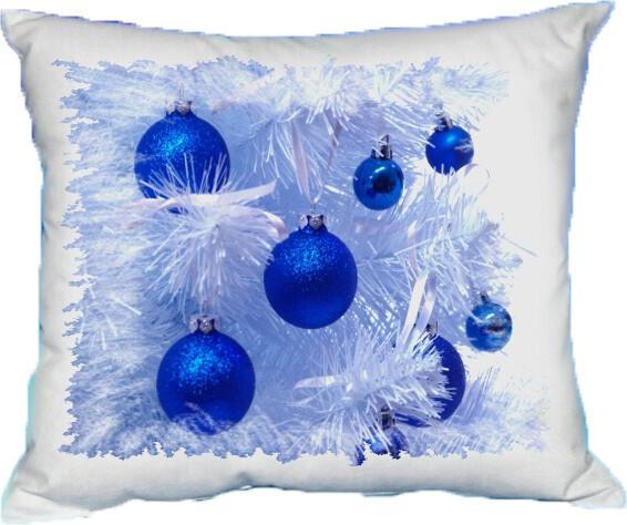 Polštářek vánoční kouličky