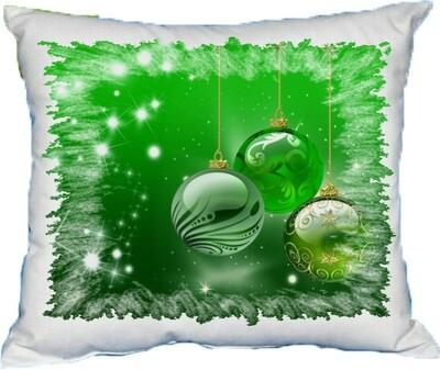 Polštářek vánoční kouličky II