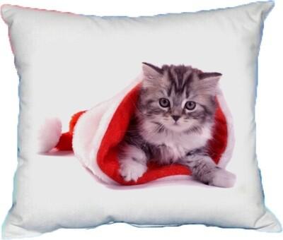 Polštářek vánoční kotě