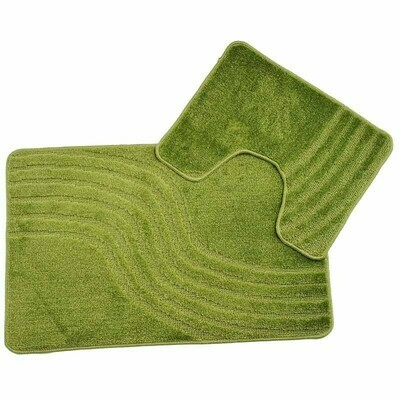 Koupelnová a záchodová předložka SET - Zelená 5541