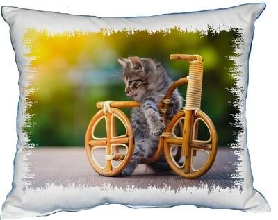 Polštářek Kotě na kole