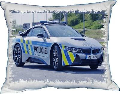 Polštářek Policejní BMW v akci