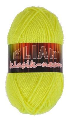 Pletací příze Elian Klasik Neon 10910 - žlutá
