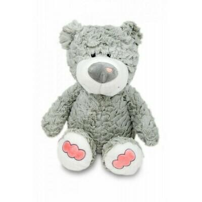Polštářek 3D Medvídek chlup - šedý