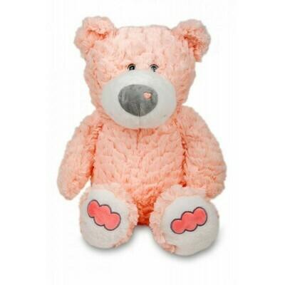 Polštářek 3D Medvídek chlup - růžový