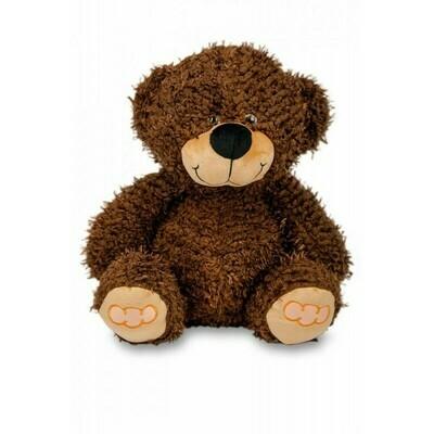 Polštářek 3D Medvídek chlup - hnědý