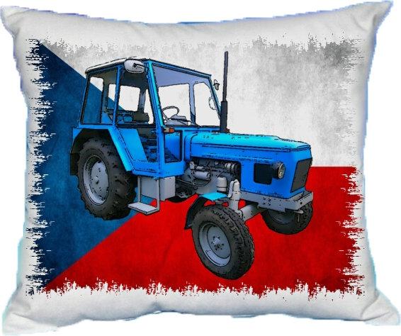 Polštářek Modrý traktor