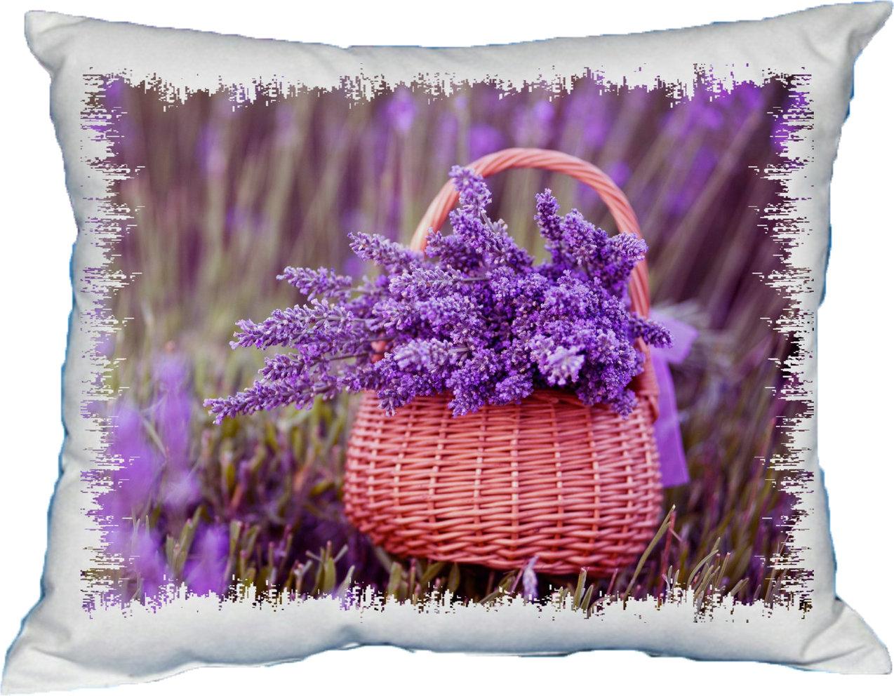 Polštářek Květiny v košíku