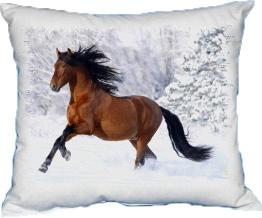 Polštářek Kůň hnědý