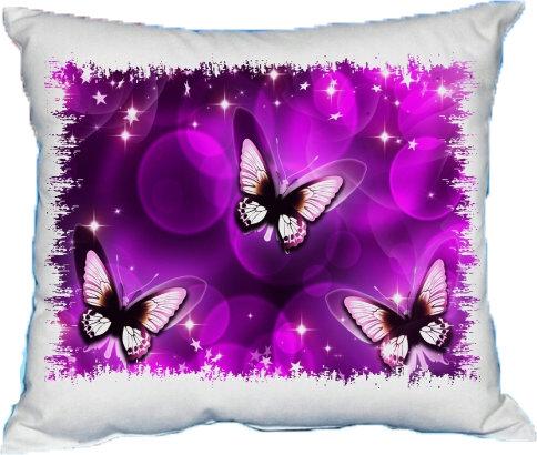 Polštářek Fialový motýl