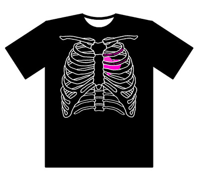 肋骨Tシャツ 黒 M サイズ