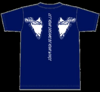 ウイングTシャツ ブルー Sサイズ