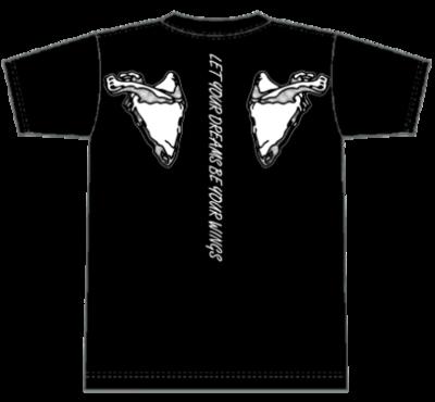 ウイングTシャツ 黒 Lサイズ