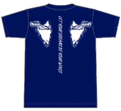 ウイングTシャツ ブルー Lサイズ