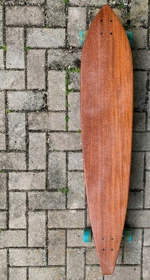 "Longboard, Solid Mahogany, Pintail, Custom Shaped, 47 1/2"" x 9 3/8"""