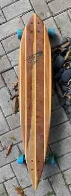 "Longboard, Pintail, Solid Hardwood, 42 1/2"" x 8 1/4"", Rosewood and Poplar"